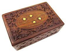 Large Decorative Trinket Jewelry Lock Chest Handmade Wooden Storage Box