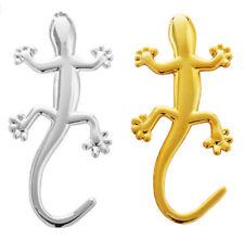 2Pc Truck Car 3D Gecko Lizard Sticker Pure Metal Chrome Decal Emblem Motorcycle