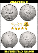 50p Fifty Pence coins 2017 Peter Rabbit Jeremy Fisher Tom Kitten Benjamin Bunny
