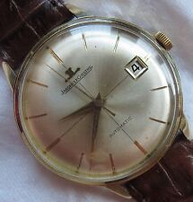 Jaeger LeCoultre automatic date mens wristwatch gold filled case screw cap