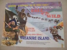 TREASURE ISLAND/CALL OF THE WILD DOUBLE BILL-  FIRST RELEASE QUAD POSTER 30 x 40