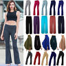 Womens Bootcut Yoga Pants Bootleg Flare Trousers Workout Casual Fitness Running