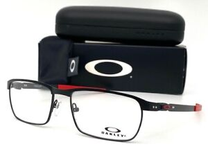 OAKLEY Tincup OX3184-0954 Stain Black Red / Demo Lens 54mm Eyeglasses