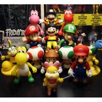 "Super Mario Bros Mario Luigi Bowser Toad Donkey Kong 5"" Action Figure Doll US"