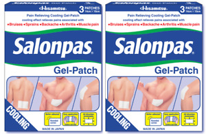 Salonpas - Gel-Patch - Pain Relief for Sprains, Aches & Muscle - 2 PACK