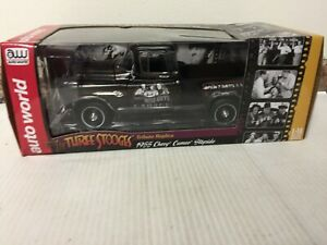 Auto World The Three Stooges 1955 Chevy Cameo Stepside 1/18 FACTORY SEALED NEW