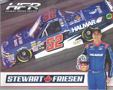 """2018 STEWART FRIESEN """"2ND VER HALMAR"""" #52 NASCAR CAMPING WORLD TRUCK POSTCARD"""