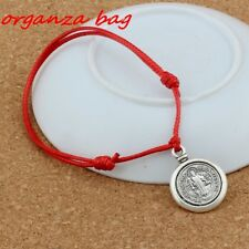 charm Adjustable Wax line Bracelets red 2Pcs Saint San Benedetto Medal Cross