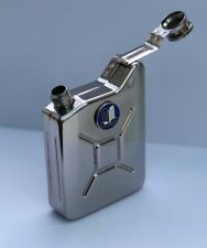TRIUMPH Car Petrol Can / Jerry Can Stainless Steel 5oz Drinking Hip Flask
