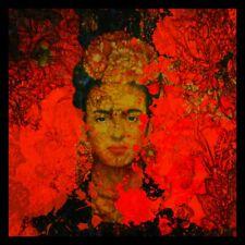 Pop Art  Motiv Frida Kahlo 100x100 Acrylglas Bild//Loft//Druck//Glas//Modern Art