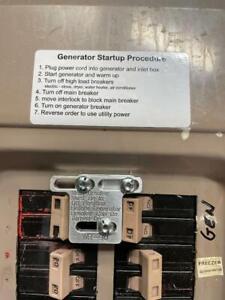 Generator Interlock Kit , Eaton / Cutler Hammer 100 amp panel WR-90