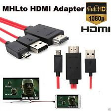 DTV MHL Micro USB to HDMI 1080P HD TV Cable Adapter for Samsung Galaxy S4 S3 ...