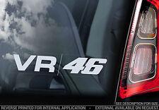 Valentino Rossi VR46 - Car Window Sticker - 'The Doctor' Yamaha VR 46 Sign - V07