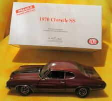 RARE -1970 Chevelle SS Burgundy w/ Black Stripes by Danbury Mint Acme GMP 1/18