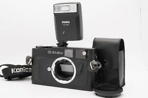 [ Mint ] Konica Hexar RF Noir Télémètre Caméra à Film Avec / Sangle HX-18W De