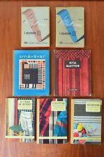Swedish Scandinavian Mid Century Books on Loom Work - 7 Hardback - Ica-Forlaget