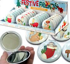 Espejo Compacto festivo Lindo Bolso Maquillaje Navidad Stocking la pereza llama relleno