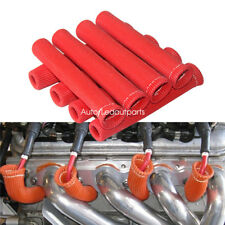 8Pcs Red Spark Plug Boot Protector Sleeve Spark Plug Wire Boots Heat Shield