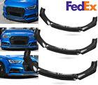 Carbon Fiber Front Bumper Lip Splitter Spoiler For Audi A3 A4 A5 A6 A7 S4 S5 S6