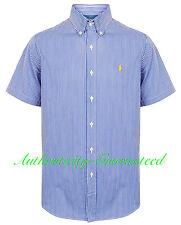 100 Genuine Ralph Lauren Short Sleeve Buttondown Men's Shirt Size M