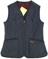 NWT Barbour Fleece Betty Lined Quilted Liner Vest Navy Blue Womens Size 8 US