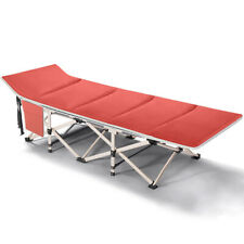 Portable Folding Bed Camping Cot with Carry Bag & Mattress for Outdoor,Hospital