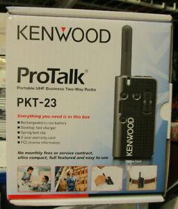 Kenwood PKT-23K Pocket Sized UHF 4 Channel Portable 2 Way Radio Walkie Talkie