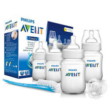 Avent Classic+ Newborn 6 Pcs Starter Set Anti-Colic Feeding Bottles & Teats,