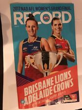 2017 AFLW Grand Final Record Women's AFL Grand Final Record 2017 Lions Adelaide
