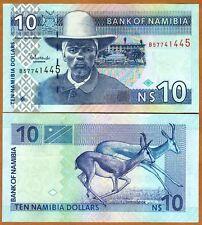 Namibia, 10 dollars, ND (2001), Pick 4 (4c), UNC > Antelopes