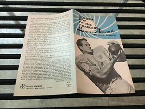 original RARE 1968 LANCE ALWORTH SAN DIEGO CHARGERS AFL FOOTBALL PLAYER PAMPHLET