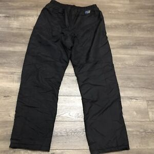 Skigear Mens Ski Pants Size XL Insulated Warm Black Drawstring