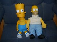 Simpson's Homer & Bart Dolls1990 Created by Matt Groening printed on Bart
