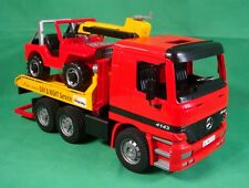 Bruder Action Vehicle Mercedes Tow Truck carrying Jeep with Crane