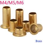M4 M5 M6 Copper Brass Vias Rivet Nuts Through Hole Rivets Hollow Grommets