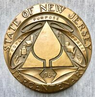 """State of New Jersey Tercentenary - 1664-1964 - MACO - 3"""" Bronze Medal"""