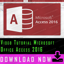 Video Tutorial Microsoft Office Access 2016 [+5 HOURS]