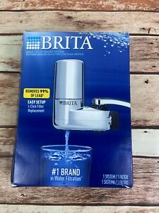 BRITA FAUCET MOUNT FILTER SYSTEM CHROME OPEN BOX FAST / FREE SHIPPING (Read)