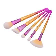 5Pcs Professional Mermaid Brushes Make Up Foundation Blush Lip Cosmetic Set