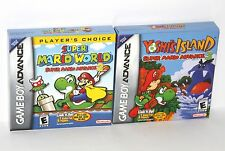 Super Mario World Yoshi Island 2 3 Nintendo Game Boy Advance GBA Classic SNES