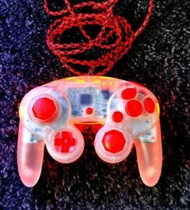 Official Nintendo Gamecube Controller Custom , LED lights reshell, cable sleeve