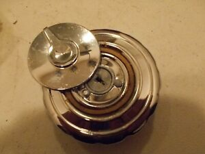 1953-54 DESOTO Sta Wagon Gas Fuel Petrol Cap Locking ALL Chrome FlipLid Deluxe