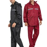 Fashion Adult Rain Suit Motorcycle Riding Raincoat Waterproof Jacket & Trousers