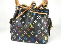LOUIS VUITTON Petit Noe Shoulder Bag Monogram Multicolor Noir Black M42230 V3148
