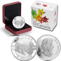 2014 O Canada 1/2 oz Silver $10 - Skiing