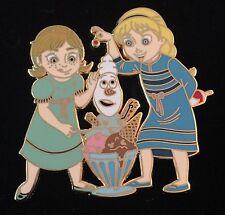 FROZEN YOUNG ANNA ELSA & OLAF WITH ICE CREAM PTD NON DISNEY FANTASY PIN LE 100