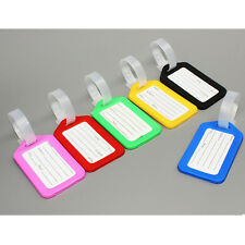3X Travel Luggage Bag Tag Name Address ID Label Plastic Suitcase Baggage Tags
