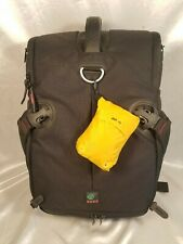 KATA 3N1-30 DSLR Camera Sling Backpack Black with Yellow Rain Fly Included
