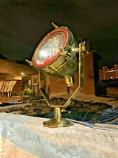 VINTAGE OLD ANTIQUE MARITIME BRASS SHIP SALVAGE SPOT / SEARCH LIGHT - LARGE