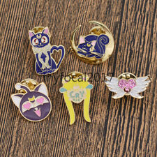 Sailor Moon Enamel Pin Brooch Shirt Collar Accessory Cute Jewelry Girls Gift